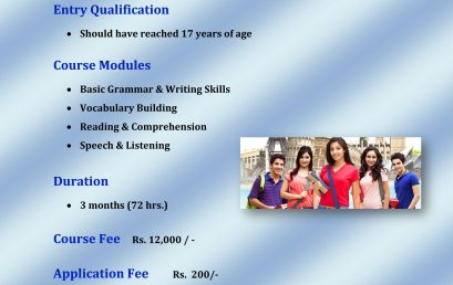 Short Course in English Language for School Leavers