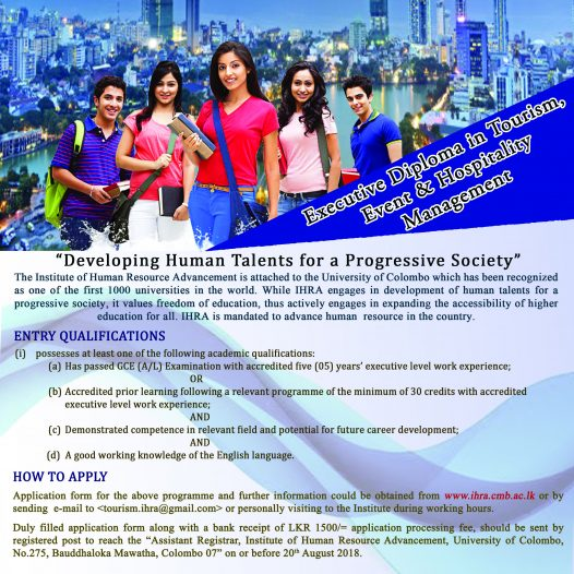 EXECITIVE DIPLOMA IN TOURISM. EVENT & HOSPITALITY MANAGEMENT