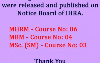 Release of Results Notice