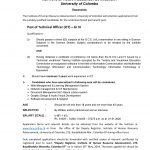Post of Technical Officer (ICT) – Gr III