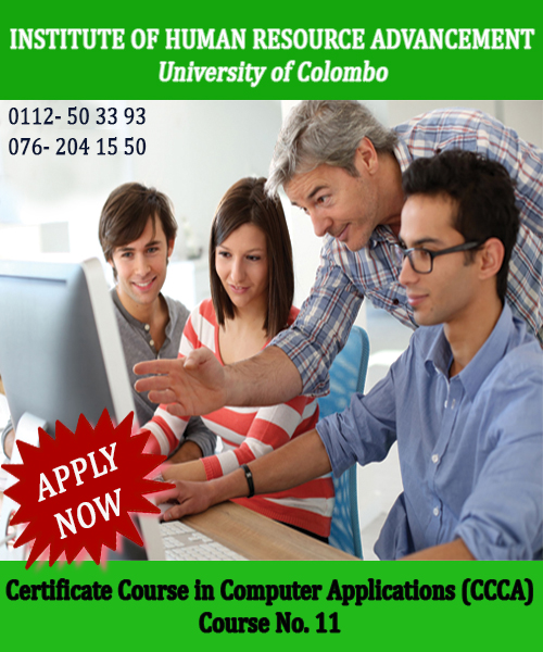 Certificate Course in Computer Applications (CCCA)