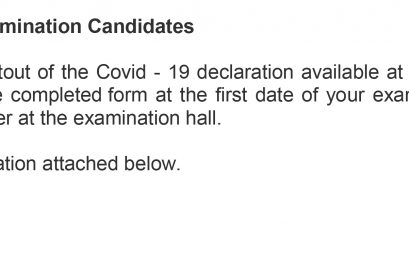 Notice for all  IHRA-Examination Candidates