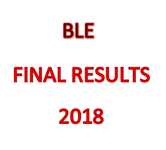 DEGREE OF BACHELOR OF LABOUR EDUCATION, FINAL RESULTS – 2018