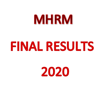 MASTER OF HUMAN RESOURCE MANAGEMENT – COURSE NO. 09 FINAL RESULTS – 2020