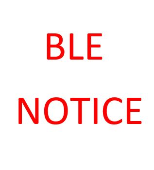 BLE Part II and Part III- Academic year 2018/2019 Exam Registration