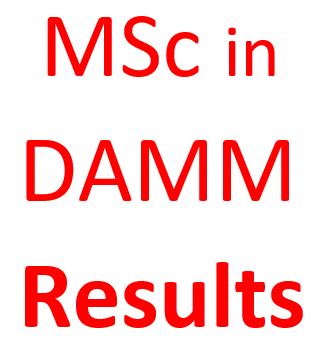 MSc in  DAMM No.03 Results
