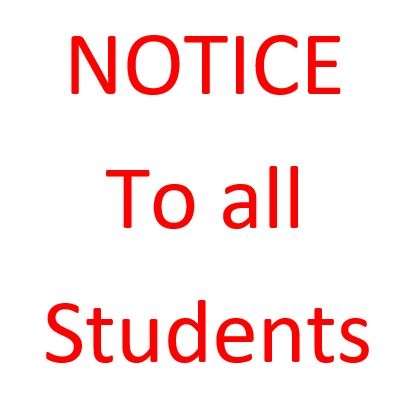 Notice to All Students- Calling Examination Applications