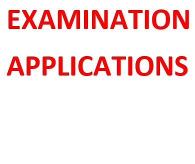 Examination Applications- Masters of Science In Service Management